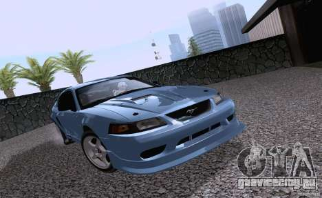 Ford Mustang SVT Cobra 2003 White wheels для GTA San Andreas вид слева
