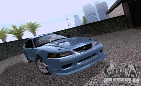 Ford Mustang SVT Cobra 2003 White wheels для GTA San Andreas вид слева