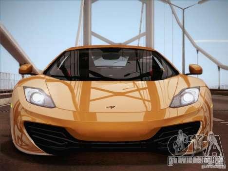 McLaren MP4-12C BETA для GTA San Andreas салон