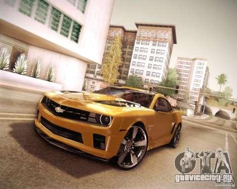 Chevrolet Camaro 2SS 2012 Bumblebee v.2.0 для GTA San Andreas вид изнутри