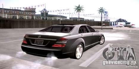 Mercedes-Benz S600 v12 для GTA San Andreas вид сзади слева