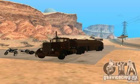 Duel Peterbilt для GTA San Andreas вид справа