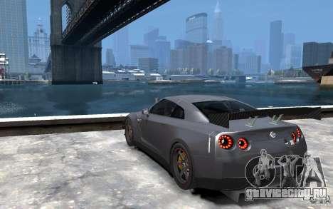 Nissan GT-R v1.1 Tuned для GTA 4 вид сзади слева