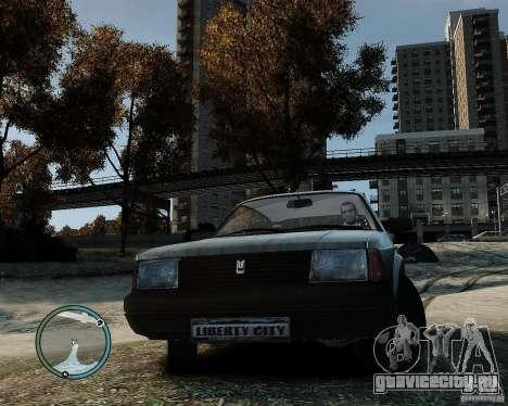 АЗЛК Москвич 2141 для GTA 4 вид сзади слева