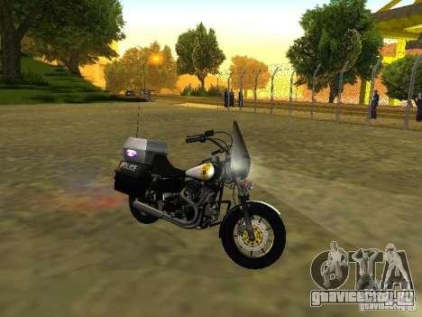 Harley Davidson Dyna Defender для GTA San Andreas вид слева