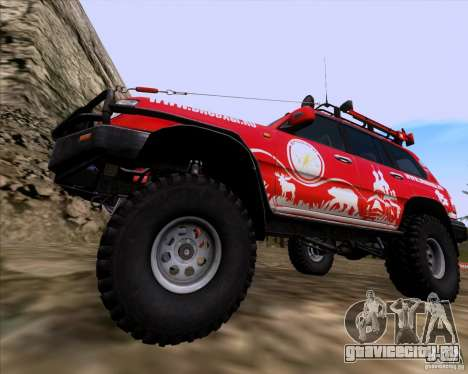Toyota Land Cruiser 100 Off-Road для GTA San Andreas вид сзади