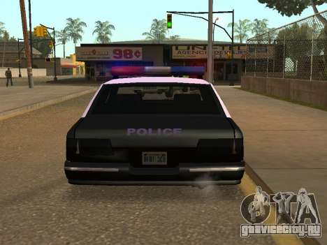 Police Los Santos для GTA San Andreas вид сзади слева