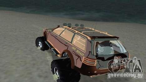 Audi Allroad Offroader для GTA Vice City вид сзади