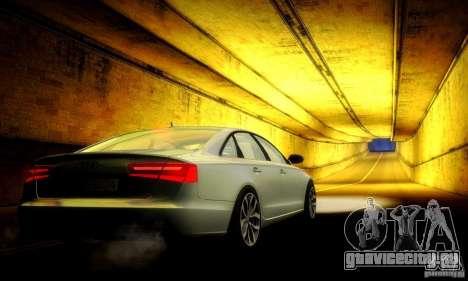 Audi A6 2012 для GTA San Andreas вид снизу