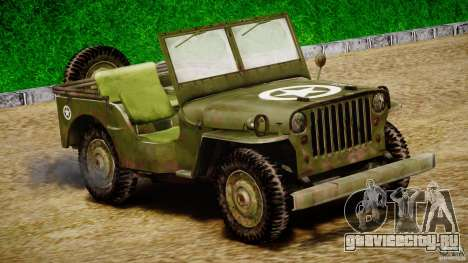 Jeep Willys [Final] для GTA 4 вид слева