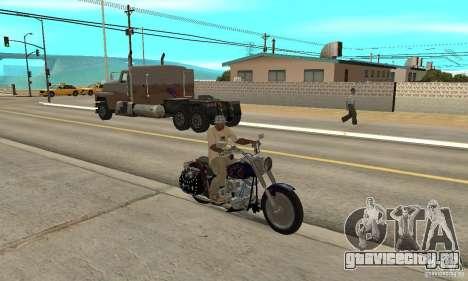 Harley Davidson FLSTF (Fat Boy) v2.0 Skin 4 для GTA San Andreas вид справа