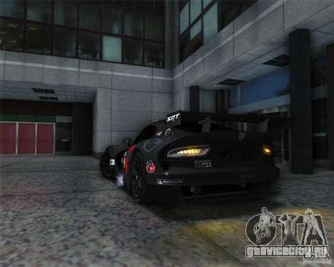 SRT Viper GTS-R V1.0 для GTA San Andreas вид сзади