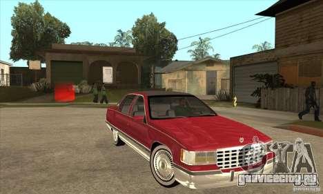 Cadillac Fleetwood 1993 для GTA San Andreas вид сзади