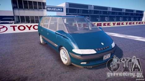 Renault Grand Espace III для GTA 4 вид изнутри