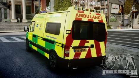 Renault Master 2007 Ambulance Scottish [ELS] для GTA 4 вид сзади слева
