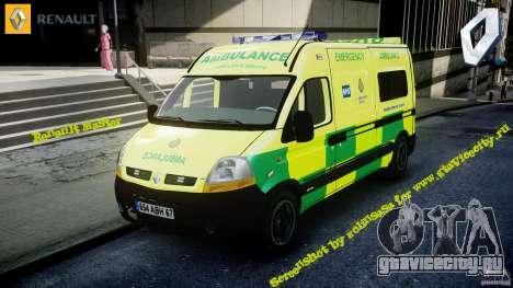Renault Master 2007 Ambulance Scottish [ELS] для GTA 4