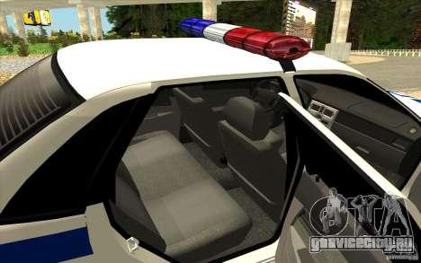 ВАЗ 2170 ДПС Самара для GTA San Andreas вид сзади слева