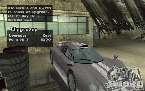 Mercedes-Benz CLK GTR road version (v2.0.0) для GTA San Andreas вид сзади