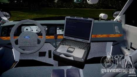 Ford Crown Victoria 2003 Florida CVPI [ELS] для GTA 4 вид справа