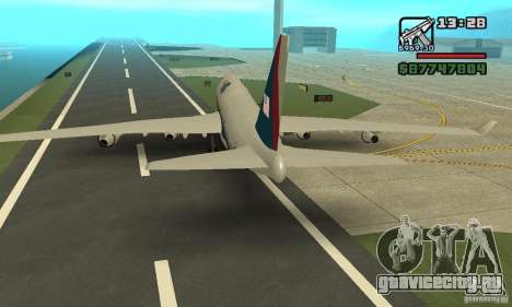 Самолёт из GTA 4 Boeing 747 для GTA San Andreas вид справа