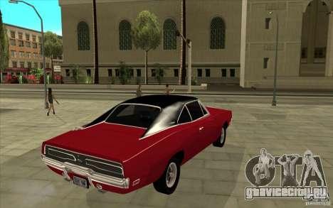 Dodge Charger R/T 1969 для GTA San Andreas вид справа