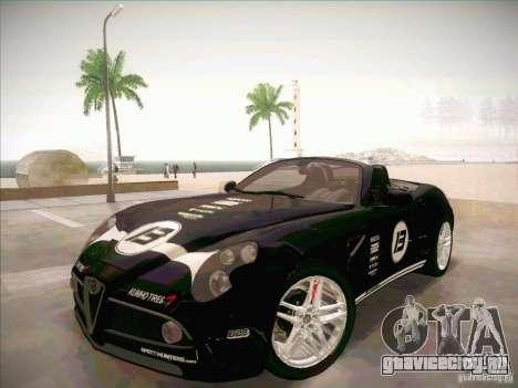 Alfa Romeo 8C Spider для GTA San Andreas вид изнутри