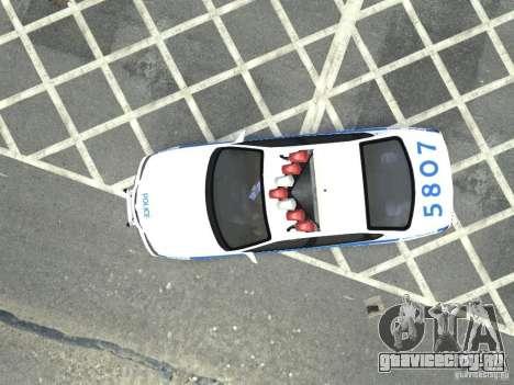 Chevrolet Impala NYCPD POLICE 2003 для GTA 4 вид сзади