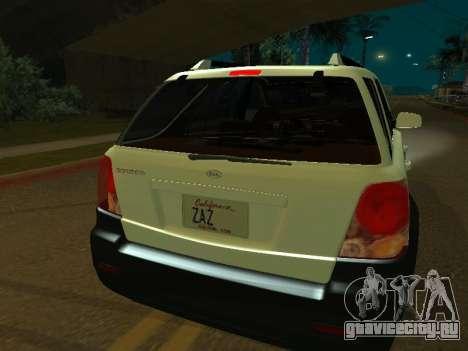 KIA Sorento для GTA San Andreas вид сзади слева
