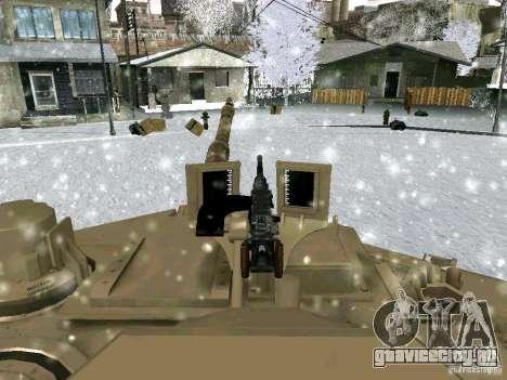M1A2 Abrams из Battlefield 3 для GTA San Andreas вид сбоку