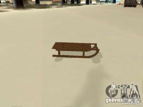 Санки v1 для GTA San Andreas вид справа