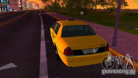 Ford Crown Victoria Taxi 2003 для GTA Vice City вид справа
