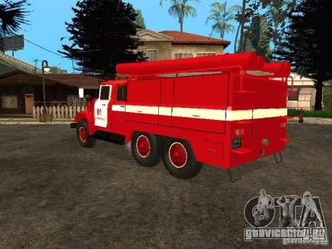 ЗиЛ 131 пожарная для GTA San Andreas вид сзади