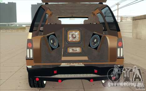 Cadillac Escalade 2004 для GTA San Andreas вид изнутри