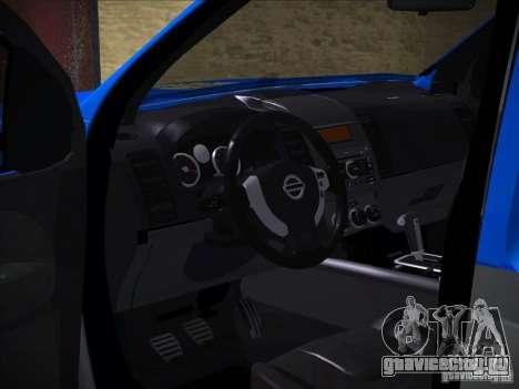 Nissan Frontier PMERJ для GTA San Andreas вид сбоку