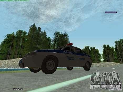 ВАЗ 2112 ДПС Полиция для GTA San Andreas вид сзади