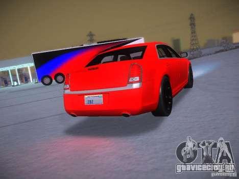 Chrysler 300C SRT8 2011 для GTA San Andreas вид изнутри