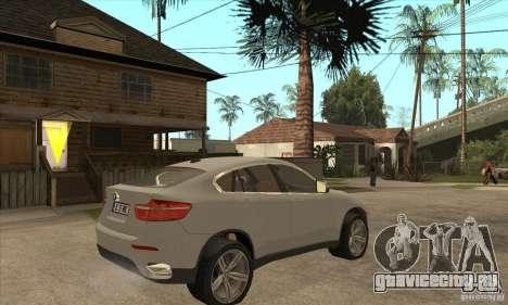 BMW X6 для GTA San Andreas вид справа