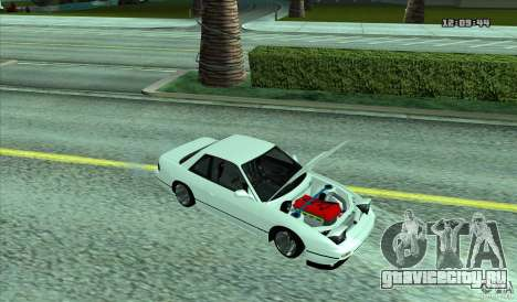 Nissan Silvia S13 Old School для GTA San Andreas вид сзади слева