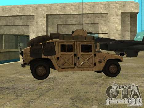 Hummer H1 HMMWV with mounted Cal.50 для GTA San Andreas вид слева