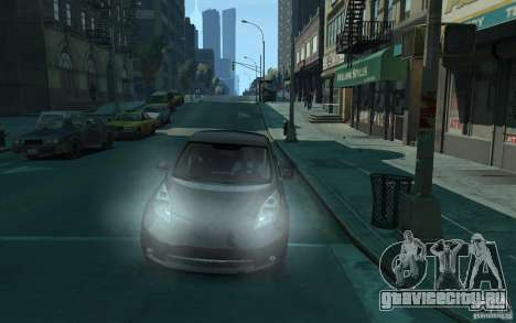 Nissan Leaf 2011 для GTA 4 вид сзади