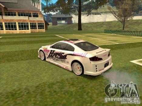 Infiniti G35 Top Secret для GTA San Andreas вид сзади слева