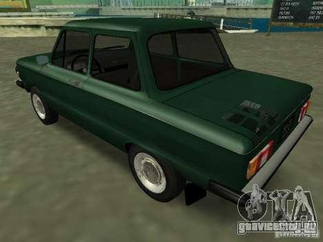 ЗАЗ-968М для GTA San Andreas вид сзади слева