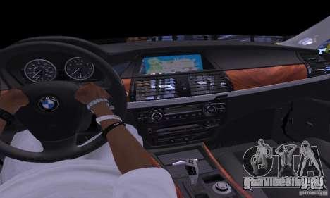 BMW X5М Gold для GTA San Andreas вид изнутри