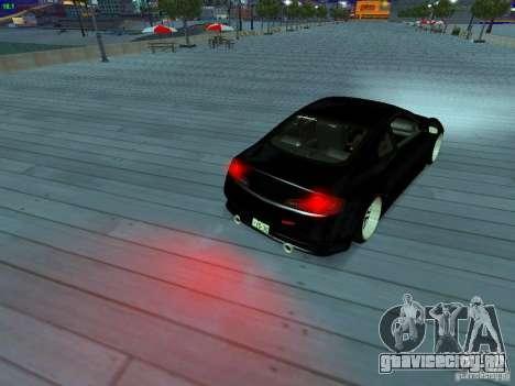 Infiniti G35 V.I.P для GTA San Andreas двигатель
