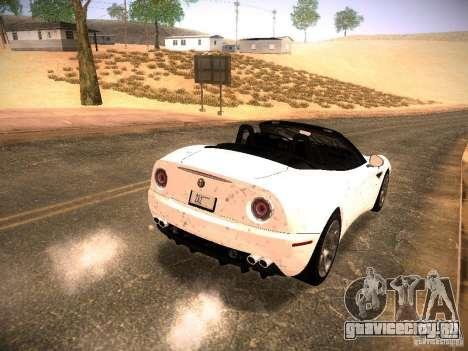 Alfa Romeo 8C Spider 2012 для GTA San Andreas салон