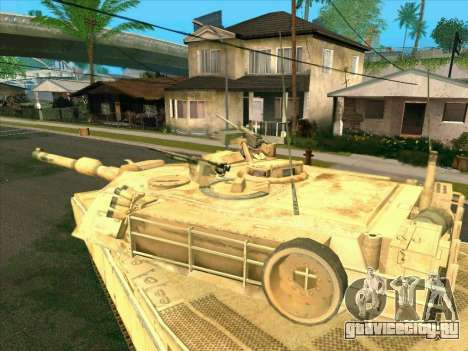 M1A2 Abrams из COD4: MW для GTA San Andreas вид сзади слева