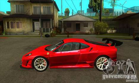Ferrari F430 Scuderia 2007 FM3 для GTA San Andreas вид слева
