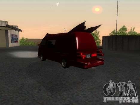 Toyota Hiace Vanning для GTA San Andreas вид сзади слева