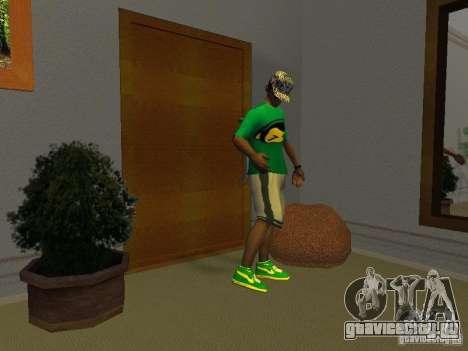 Новые зелёные кросовки для GTA San Andreas второй скриншот