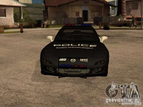 Mazda RX-7 Police для GTA San Andreas вид сзади